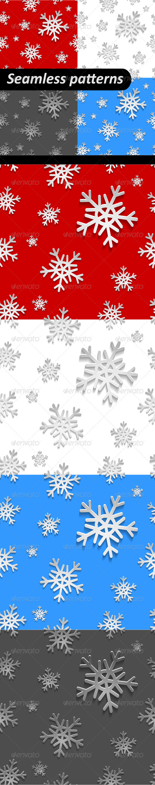 Holiday Christmas Seamless Pattern Set - Patterns Decorative