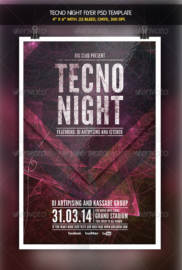 Tecno Night | Party Flyer - Clubs & Parties Events
