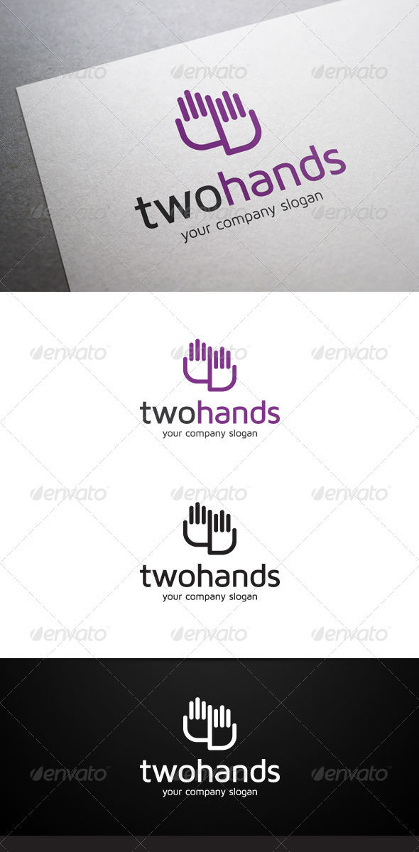 Two Hands Logo - Symbols Logo Templates