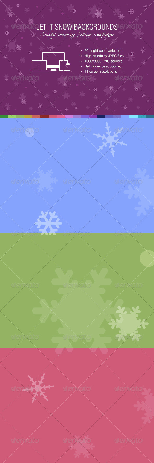 Let It Snow Backgrounds - Backgrounds Graphics