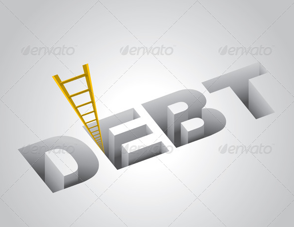 Climbing Out of Debt Concept - Concepts Business