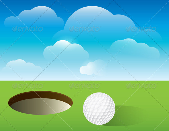 Vector Golf Background Putting Green - Sports/Activity Conceptual