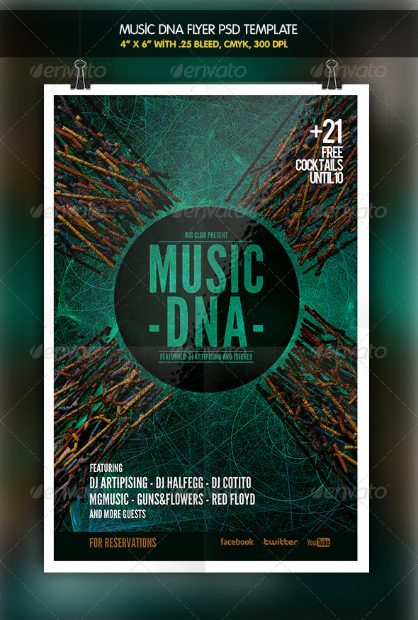 Music DNA | Flyer Template - Miscellaneous Events