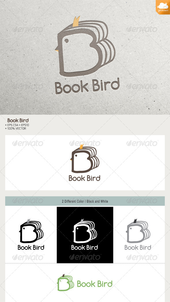 Book Bird - Animals Logo Templates