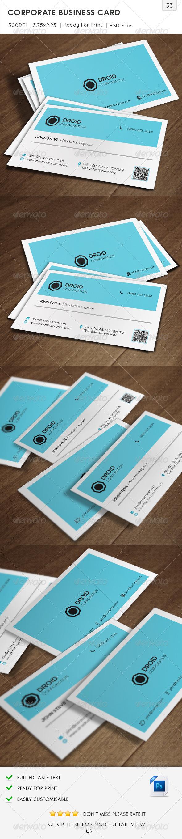 Corporate Business Card v33 - Corporate Business Cards
