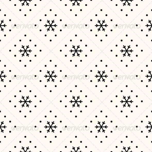 Vector Seamless Winter Retro Pattern - Patterns Decorative