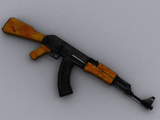 AK47 Assault Rifle - 3DOcean Item for Sale