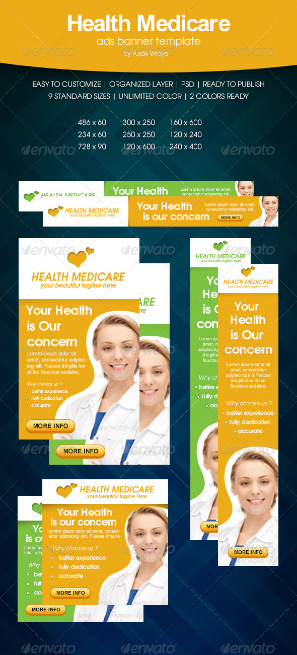 Health Medicare Ads Banner - Banners & Ads Web Elements