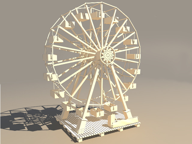 Ferris Wheel - 3DOcean Item for Sale