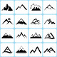 16 Mountain Icons Set - GraphicRiver Item for Sale