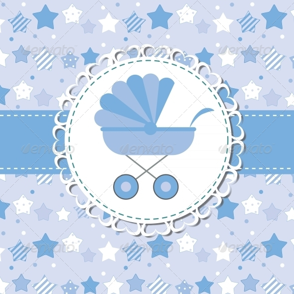 Blue Baby Carriage for Newborn - Valentines Seasons/Holidays
