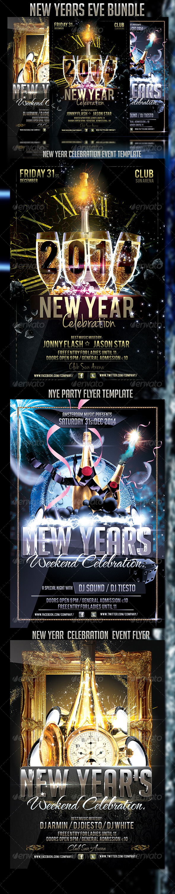 New Years Eve Bundle - Events Flyers