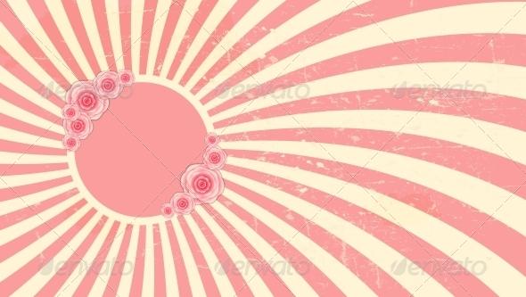 Strawberry, Cream Abstract Hypnotic Background - Birthdays Seasons/Holidays