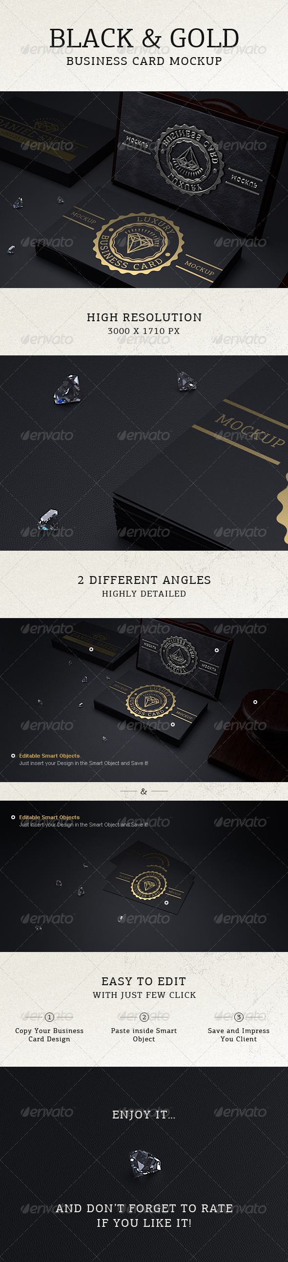 Photorealistic black gold business card mock up by ayashi photorealistic black gold business card mock up reheart Images