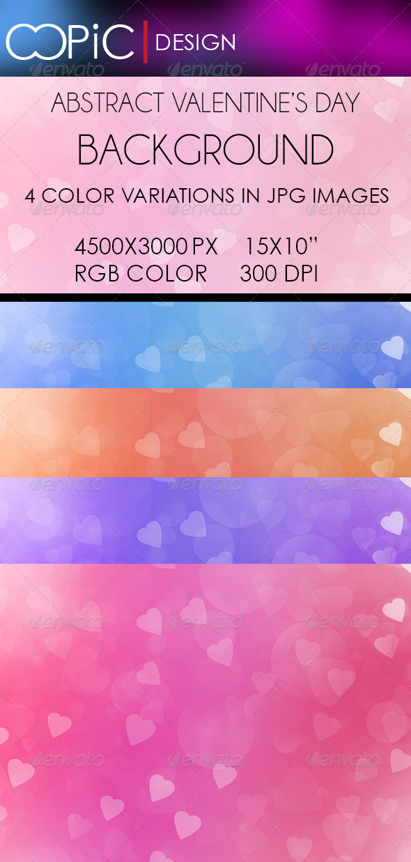 Abstract Valentine's Day Backgrounds - Backgrounds Graphics