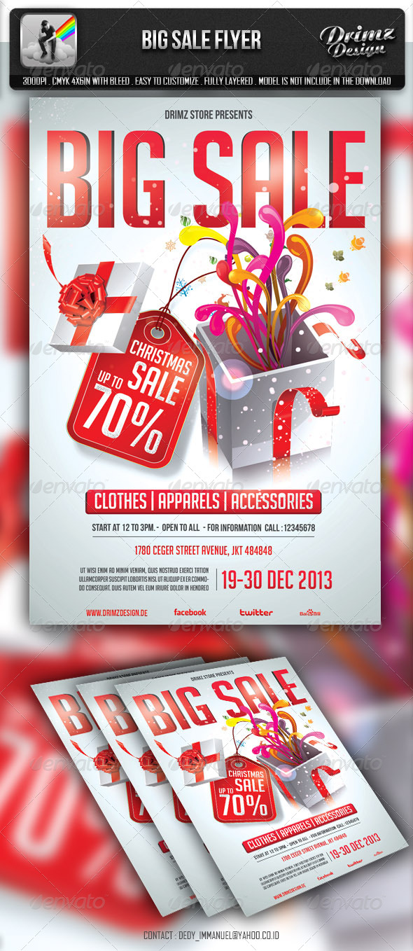 Big Sale Flyer - Holidays Events