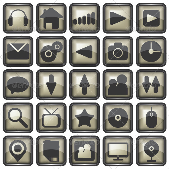 Set of Web Icons Illustration - Web Elements Vectors