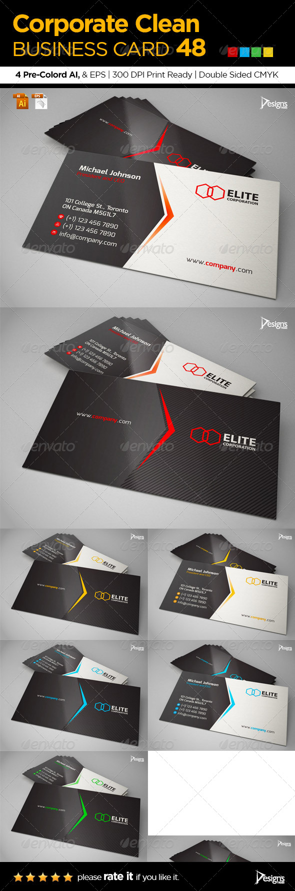 Corporate Clean Business Card 48 - Corporate Business Cards