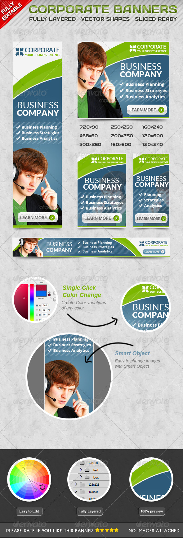 Corporate Banner - Banners & Ads Web Elements