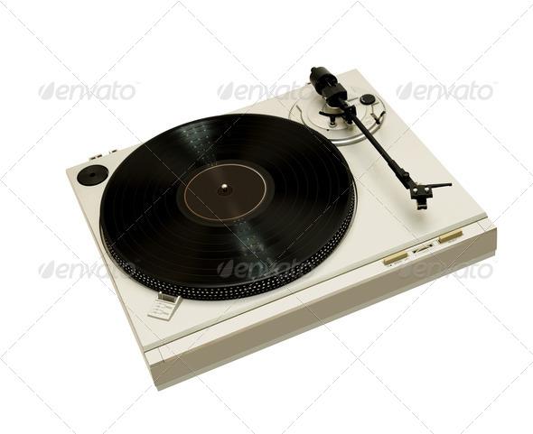 vintage audio turntable - Stock Photo - Images