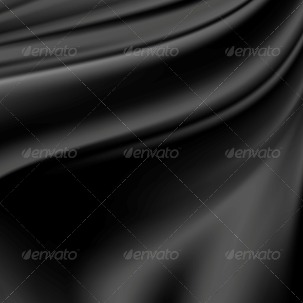 Abstract Texture, Black Silk - Backgrounds Decorative