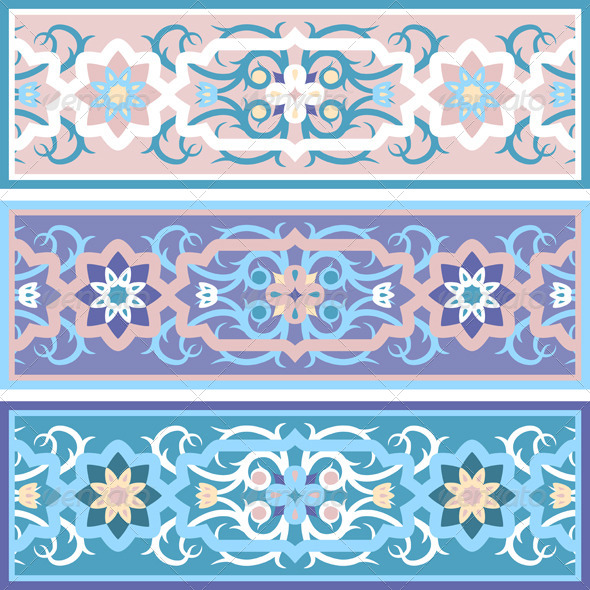 Vector Traditional Muslim Floral Ornament  - Patterns Decorative