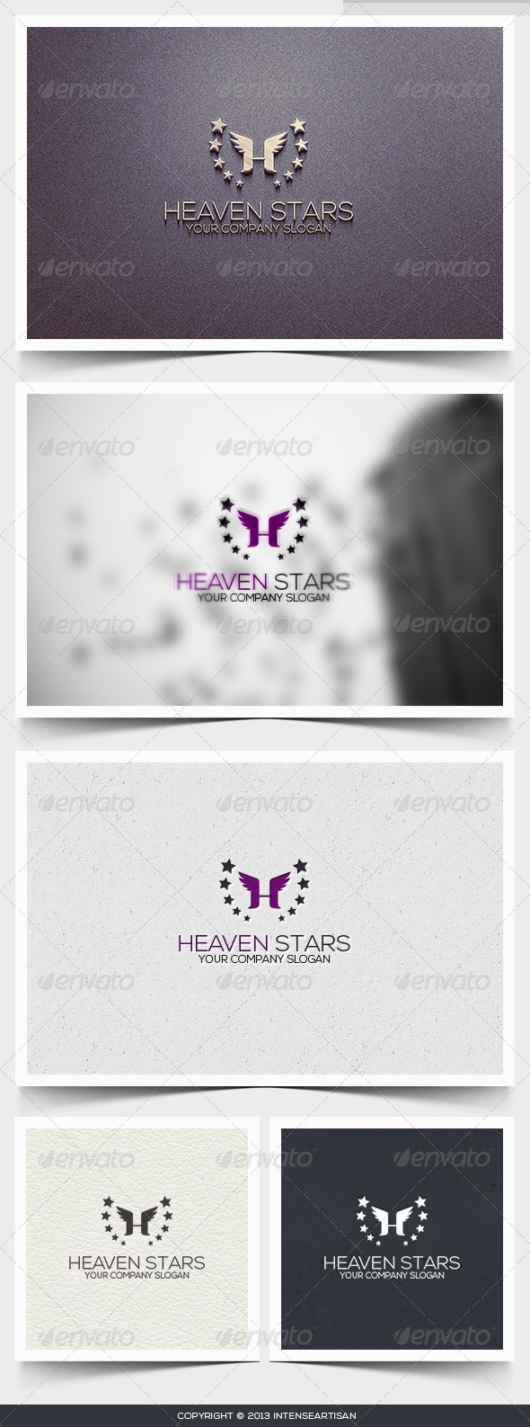 Heaven Stars Logo Template - Letters Logo Templates