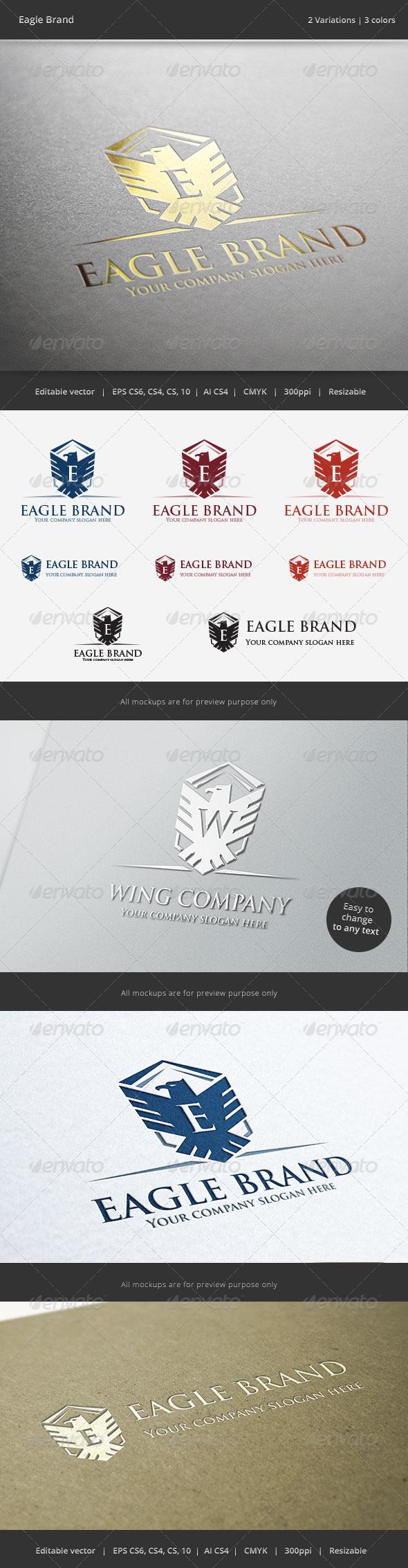 Eagle Brand Crest V2 Logo - Crests Logo Templates
