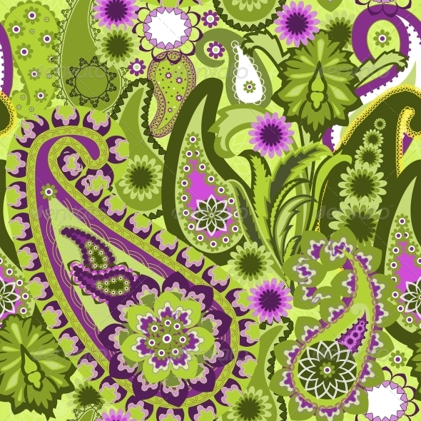 Paisley Colorful Background. - Patterns Decorative