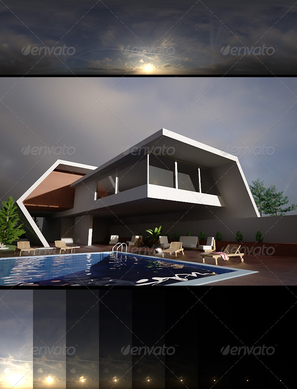 Realsky HDRI Sunset 1613 - 3DOcean Item for Sale