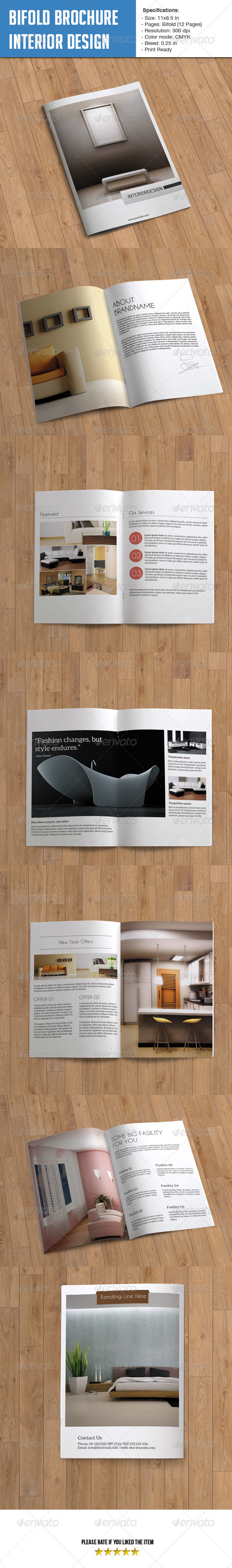 Bifold Brochure for Interior Design- 12 Pages - Corporate Brochures