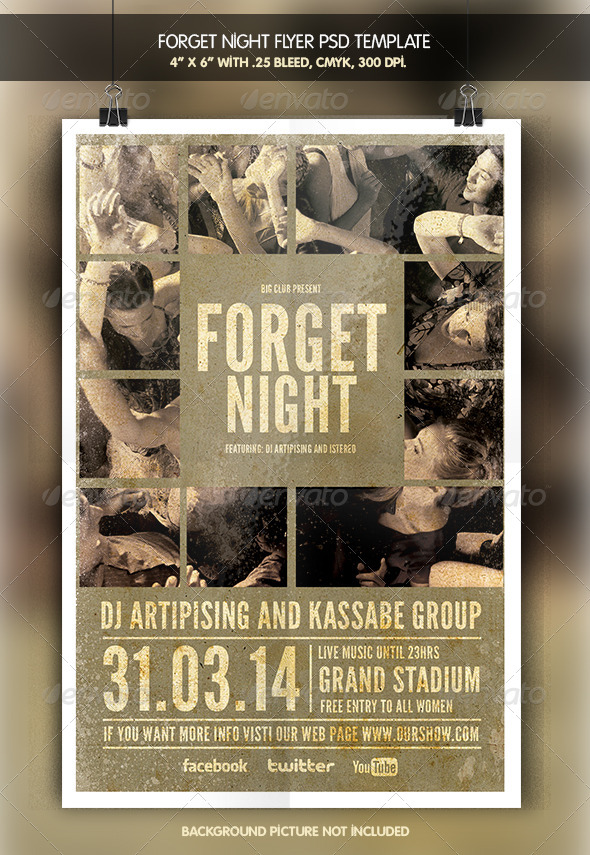 Forget Night | Party Flyer - Clubs & Parties Events