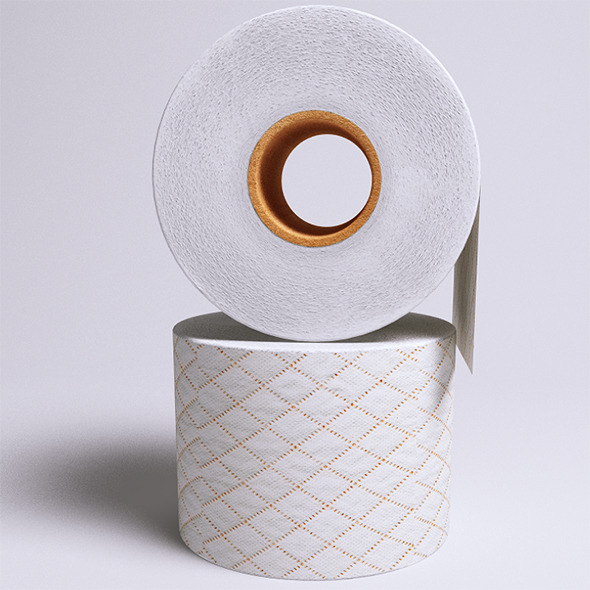 Toilet Paper (VrayC4D) - 3DOcean Item for Sale
