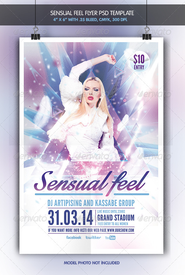 Sensual Feel | Party Flyer - Clubs & Parties Events