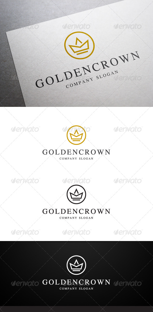 Golden Crown Logo - Crests Logo Templates
