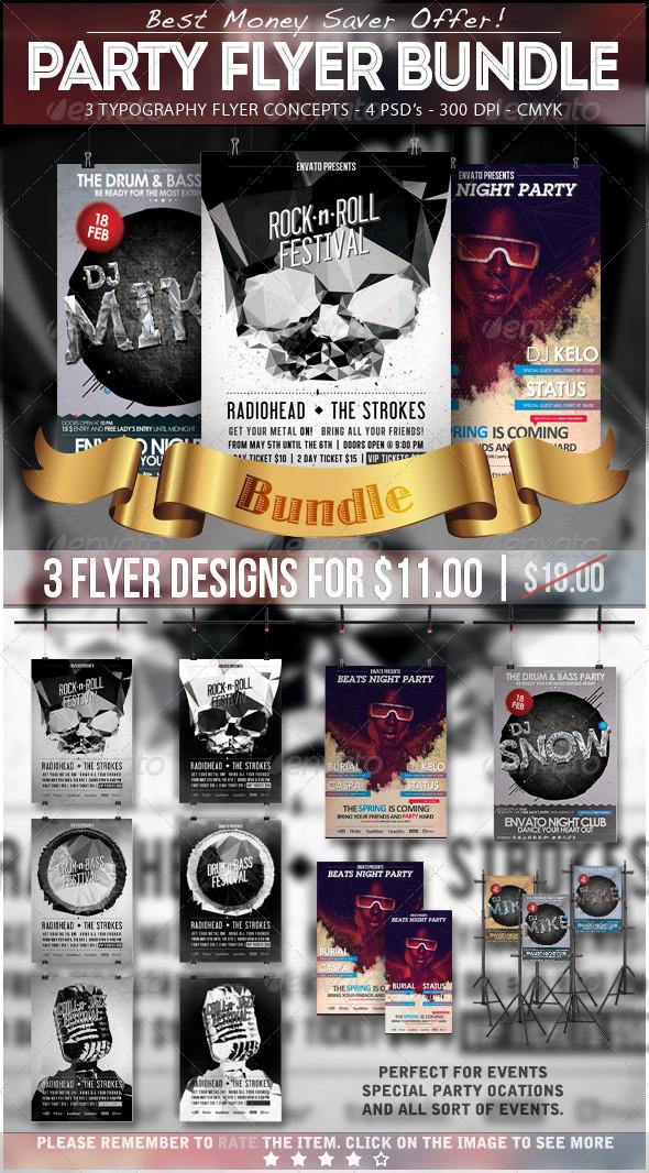Party Flyer Bundle Vol. 1 - Clubs & Parties Events