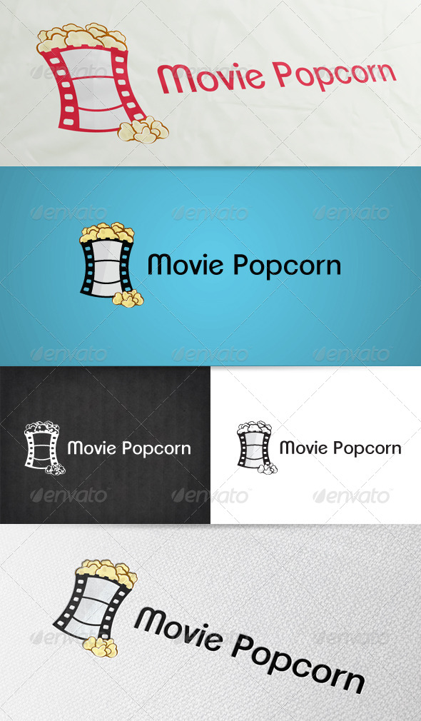 Movie Popcorn Logo - Objects Logo Templates
