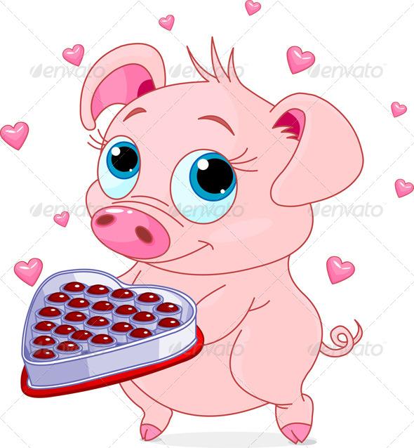 Love Piglet - Valentines Seasons/Holidays