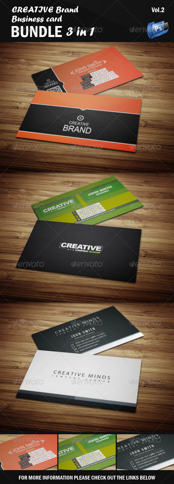 Creative Business Card - Bundle 3 in 1 [Vol.2] - Creative Business Cards