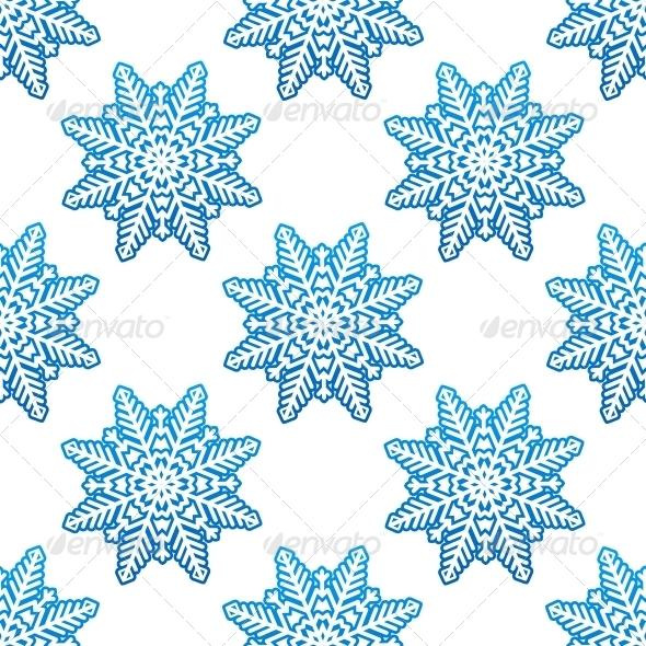 Snowflakes Winter Seamless Pattern Background - Seasons Nature