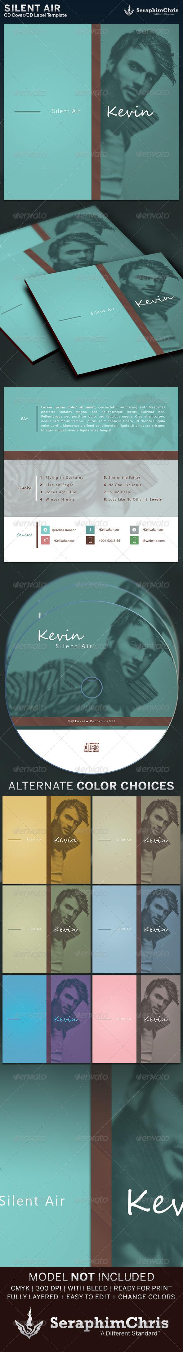 Silent Air: CD Cover Artwork Template - CD & DVD Artwork Print Templates
