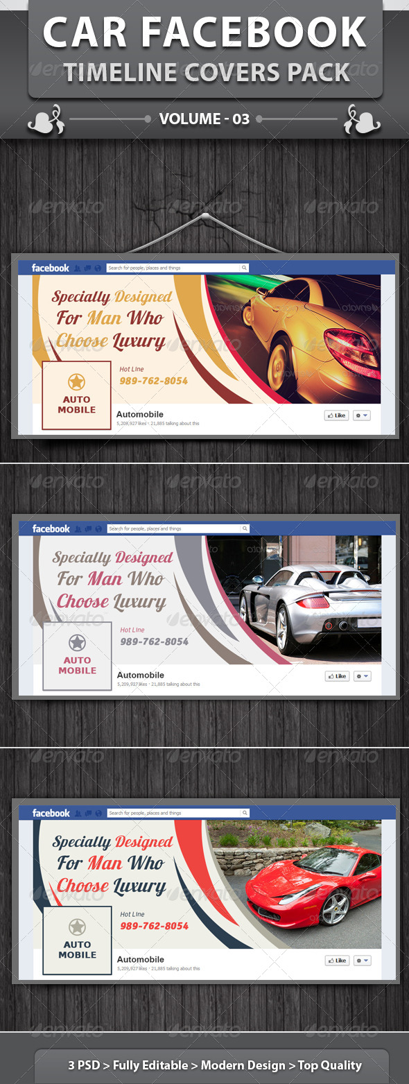 Automobile Business FB Timeline | Volume 3 - Facebook Timeline Covers Social Media