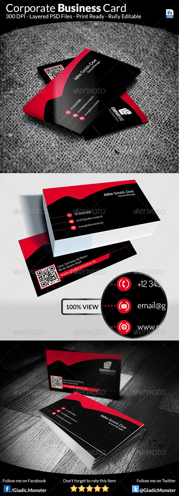 Corporate Business Card v-1 - Corporate Business Cards
