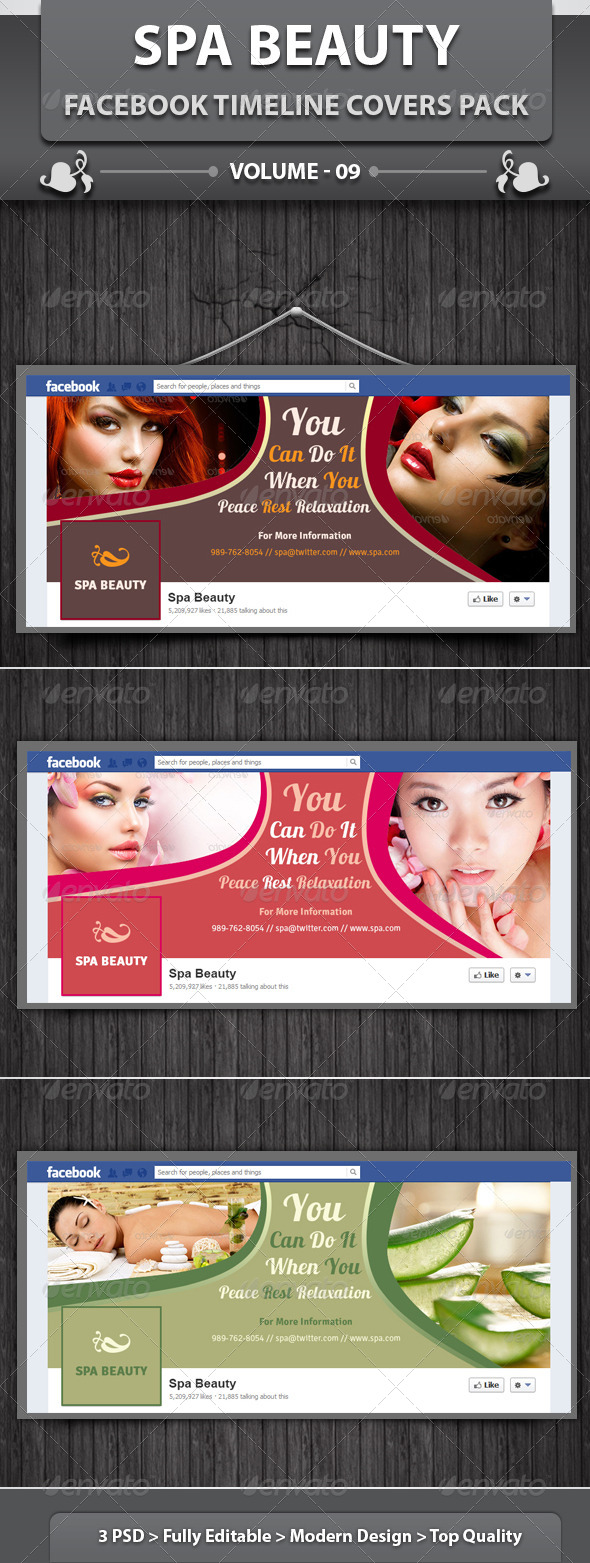Spa & Beauty Saloon FB Timeline | Volume 7 - Facebook Timeline Covers Social Media