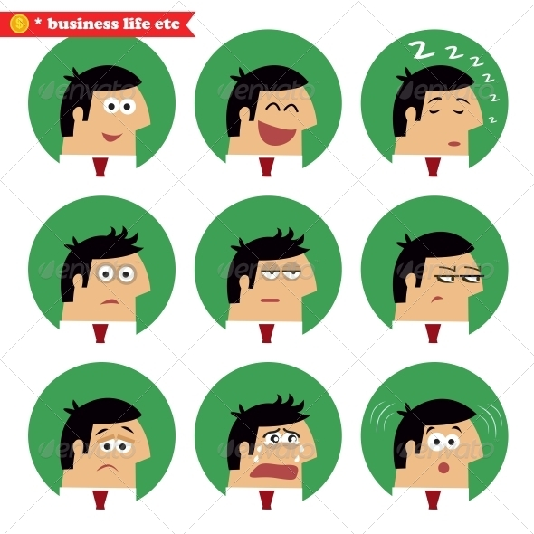 Business Facial Emotions - Concepts Business