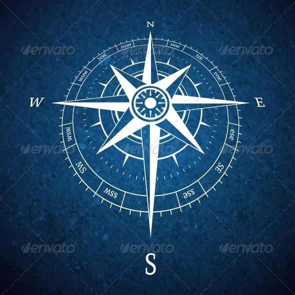 Compass Road Sign - Travel Conceptual
