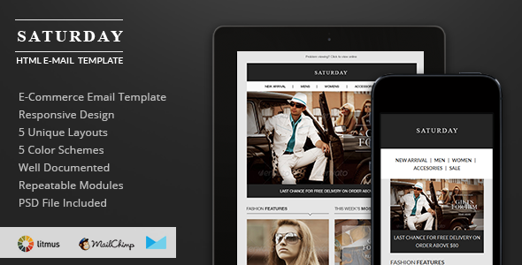 Saturday – E-Commerce Responsive Email Template