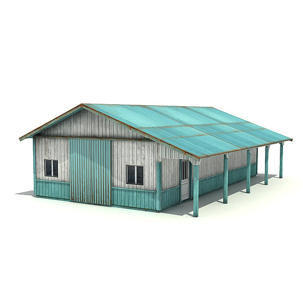 Big Metal Warehouse - 3DOcean Item for Sale