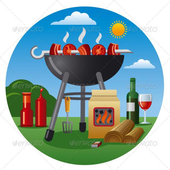 Barbecue Icon - Vectors
