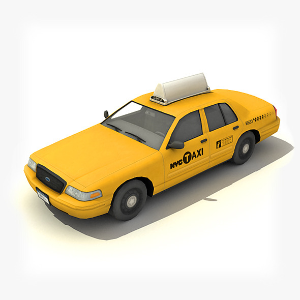 New York Taxi Car - 3DOcean Item for Sale